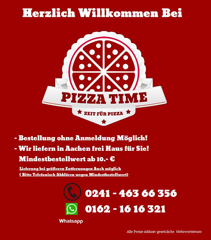 Pizza Time Aachen Der Lieferservice In Aachen Der Pizza Taxi In